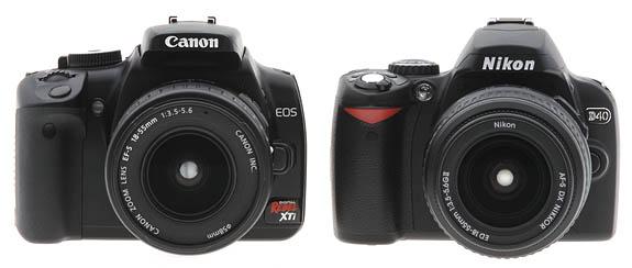 Canon EOS 350D vs. Nikon D40
